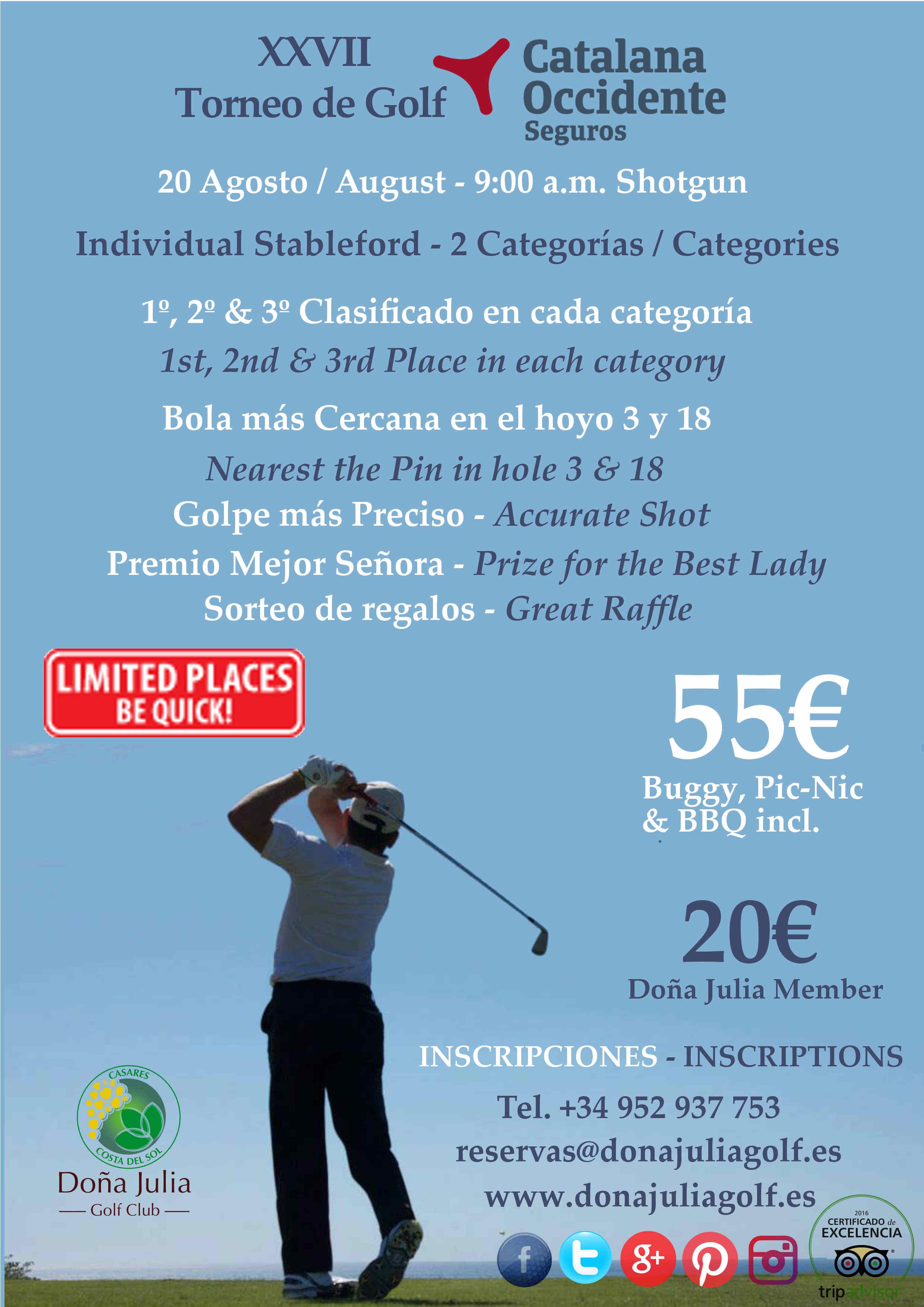 XXVII Torneo de Golf Catalana Occidente