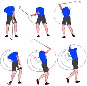 El brazo izquierdo mantiene la extensión del stance