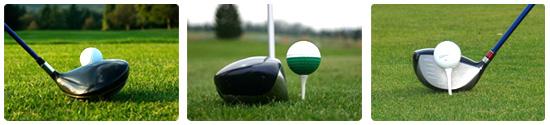 la altura recomendable para el tee de golf es amitad de bola