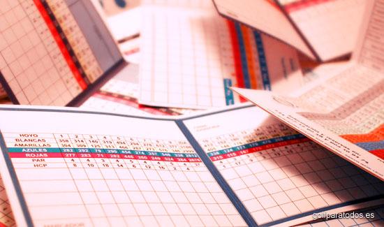Scorecard es la tarjeta del recorrido donde apuntar los golpes